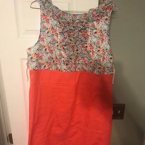 Cute floral and coral dress.